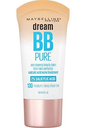 Maybelline Dream Pure Skin Clearing BB Cream, 8-in-1 Skin Perfecting Beauty Balm With 2% Salicylic Acid, Sheer Tint…