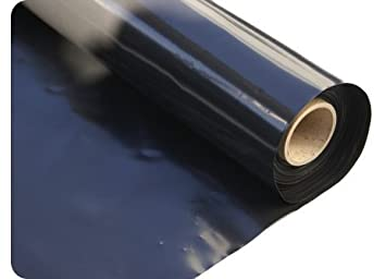 garden plastic sheeting. Elixir Gardens ® Black Polythene Sheeting Plastic Covers 2M 500G | X 10M Garden E