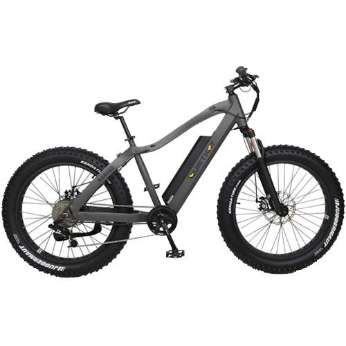 QuietKat 2019 Ranger 750W Electric Bike for Backcountry, Hunting, Fishing and Off-Road Use - Bafang Hub Drive Motor, 7-Speed Gear, Mechanical Disc Brake - Charcoal, 19