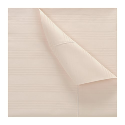 Count 100% Cotton Stripe Pillowcase Set, Long-staple Combed Pure Natural Cotton, Soft & Silky Sateen Weave Standard Size Pillow Cases (Standard Pillowcase, Pearl Ivory) (Lustrous Pearl)