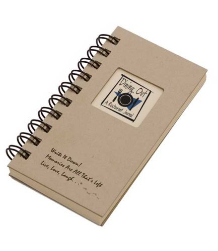 Dining Out, A Restaurant Journal - MINI Kraft Hard Cover (prompts on every page, SPACE FOR 80 RESTAURANTS! recycled paper, read - Restaurant Journal