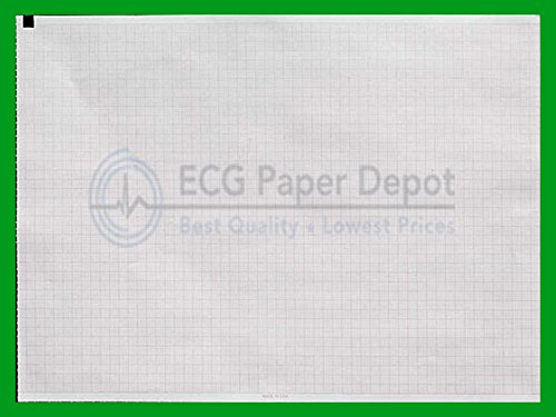 Welch Allyn Compatible 2157-017A Generic ECG Paper 8 Pack, Z-Fold, Red Grid, 210mm x 280mm