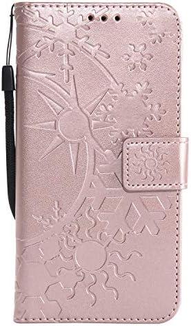 LG K8 2017 ケース手帳型 OMATENTI レザー 革 薄型 財布型カバー カード入れ スタンド機能, 全面保護 おしゃれ 手帳ケース, 液晶保護 LG K8 2017対応, ローズゴールド
