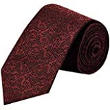 8.5cm Dark Red Flower Men silk necktie casual business Bridegroom neck ties Gifts