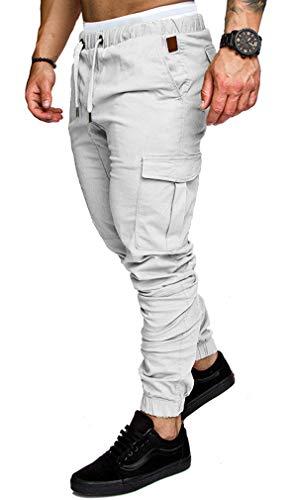 Militaire Sport 4xl Homme M Fit Grande Multi Blanc Pants Slim Socluer Baggy Taille Cargo Montagne Poches Casual Jogging Jeans Pantalons UIwdwxq48
