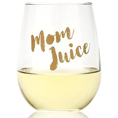Funny Mom Juice Wine Glass - 17oz