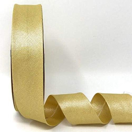Cinta al bies de algodón metalizado, dorado, 30mm Wide x 10 Metres: Amazon.es: Hogar