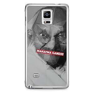 Mahatma Gandhi Samsung Note 4 Transparent Edge Case - Heroes Collection