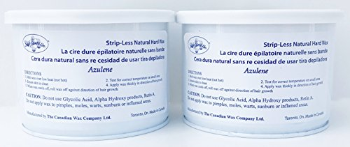 Sharonelle Natural Hard Azulene Wax in 14 oz. – 2 cans