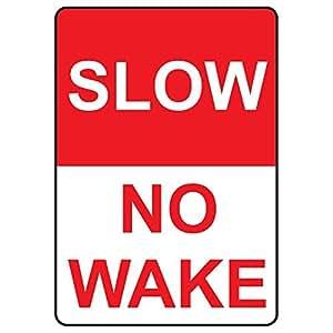 Lento no despertar cita signo de aluminio Metal Sign Regalo para hombres seguridad Yard Sign