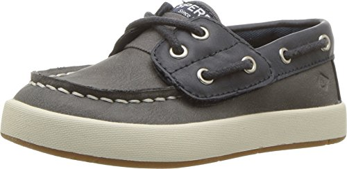Sperry Top-Sider Cruise Junior Boat Shoe Big Kid 12 Navy/Grey ()