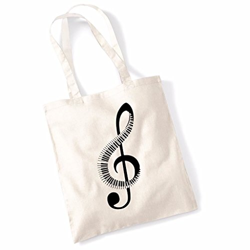 Funny Tote BagsPiano Music Note Canvas Shoulder Shopper Bag