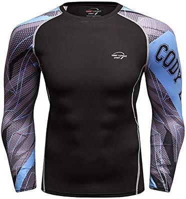 Camisetas de Running para Hombre Camisa de compresión atlética Deportiva Fit Compresión Deportiva para Hombre Camiseta de Manga Larga Playeras Cool Dry para Hombre (Color : 1, Size : XL): Amazon.es: Hogar