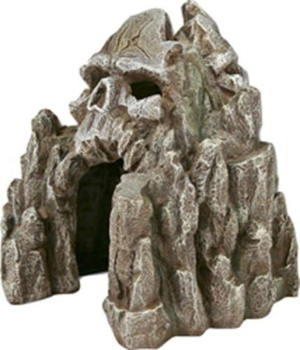 Blue Ribbon Skull Mountain Aquarium Ornament