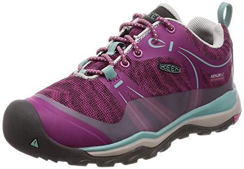 Hiking Girls Shoes - KEEN Unisex Terradora Low WP Hiking Shoe, Boysenberry/RED Violet, 13 M US Little Kid
