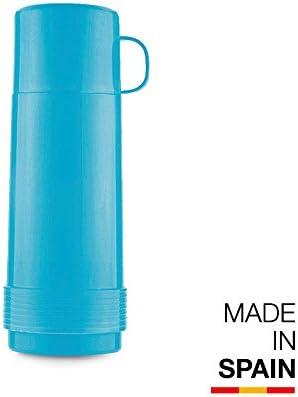 Valira Colección 1969 - Botella de vidrio aislante de doble pared con vacío de 0,75 L hecha en España, color azul