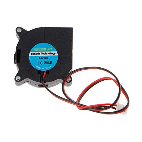 Yuly DC 24V 2-Pin Brushless Cooling Cooler Blower Fan 4020 for Desktop PC Computer CPU System Heatsink Laptop Electronic Equipment Cooling Fan 40x40x20mm