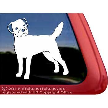park Love Border Terrier Sticker Die Cut Vinyl