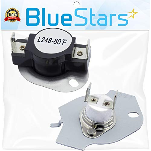 (279769 Dryer Thermal Cut-Off Kit Replacement Part by Blue Stars - Exact Fit for Whirpool & Kenmore dryers - Replaces 3389946, 3398671, 3977394, 695563, AP3094224,)