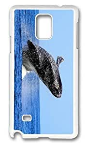 MOKSHOP Adorable humpback whale Hard Case Protective Shell Cell Phone Cover For Samsung Galaxy Note 4 - PC White