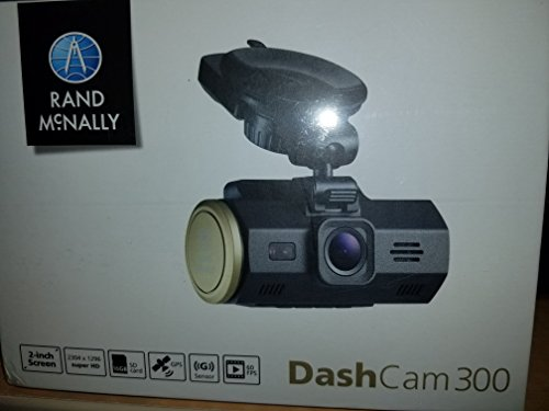 Rand Mcnally Dash Cam 300 Super HD Camera (2560 x 1080) with Video and Lane Departure and Collision Warnings