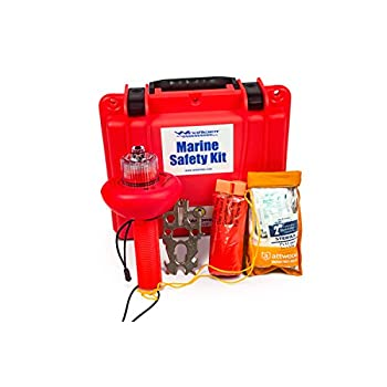 Image of First Aid Kits WindRider USCG Boating Safety Kit - Electronic Flare - First Aid Kit - Whistle - Multi Tool - Waterproof Case