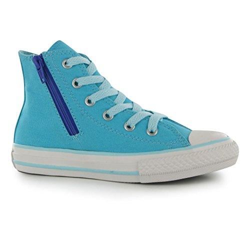 Converse Girls Chuck Taylor Side Zip Hi Top Sneakers Canvas
