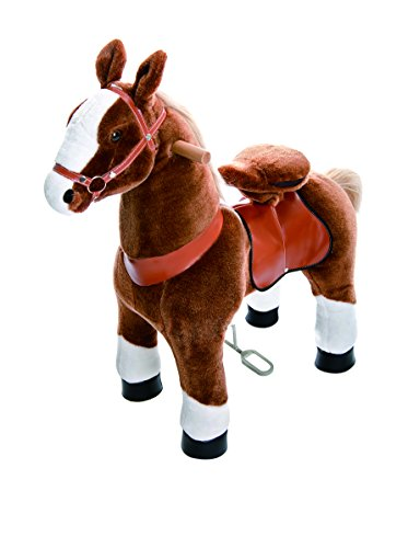 (Smart Gear Pony Cycle Chocolate, Light Brown, or Brown Horse Riding Toy: 2 Sizes:  World's First Simulated Riding Toy for Kids Age 4-9 Years Ponycycle Ride-on Medium)