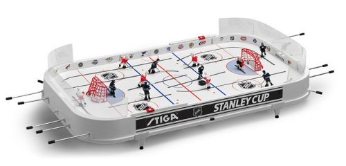 NHL Stanley Cup Rod Hockey Table Game - Chicago Blackhawks & Detroit Red Wings Red Hockey Game Table