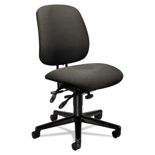 HON 7708AB12T 7700 Series Asynchronous Swivel and Tilt Task Chair, Seat Glide, Gray Olefin (Seating Series 7700)