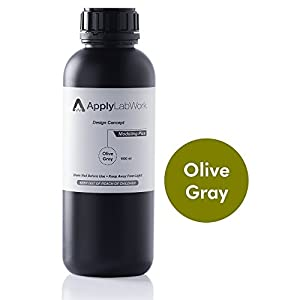 ApplyLabWork MD-P002OG Formlabs Compatible 3D Resin, Design Concept Series, Modeling Plus SLA UV Printing Material, 1 Liter, Olive Gray from ApplyLabWork
