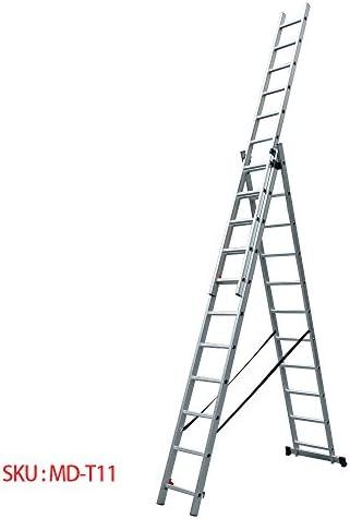Panana-S Escalera multicombinada para uso DIY, escaleras de extensión de aluminio, doble y triple EN131 secciones, 2 y 3 secciones, 2,5 m-7,2 m, con barra estabilizadora gratuita, metal, 3.1-7.24m: Amazon.es: Hogar