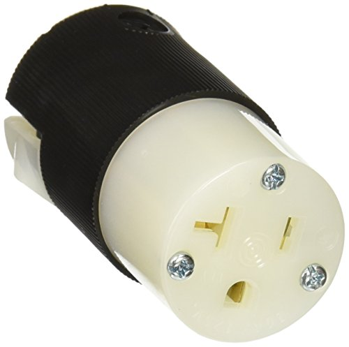 Hubbell HBL5369C Connector, 20 amp, 125V, 5-20R, Black/White(Pack of 10)