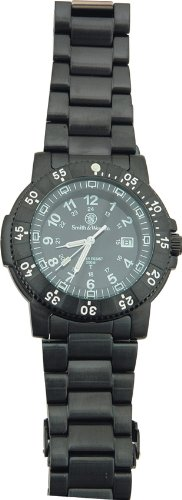 Smith & Wesson Men's SWW-357-BSS Commander Tritium H3 Black Stainless Steel Strap Watch