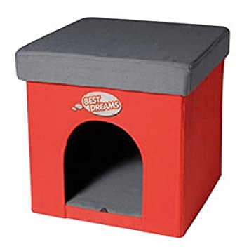 Record Caseta de perro-litera para gatos, otomano cuadrado: Amazon.es: Jardín