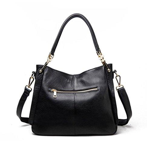 handle Top Bag Womens Tote Leather Pu Black Women Bags Bag Shoulder Handbag IXwq4Z