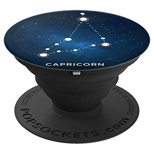 Zodiac Constellation Capricorn Star Map - PopSockets Grip and Stand for Phones and Tablets ()