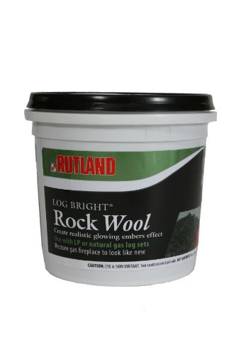 Rutland 587 Bright Rock Wool for Gas Log