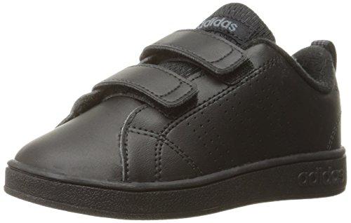 adidas Kids' VS Advantage Clean Sneaker, Black/Black/Onix, 6 M US Toddler