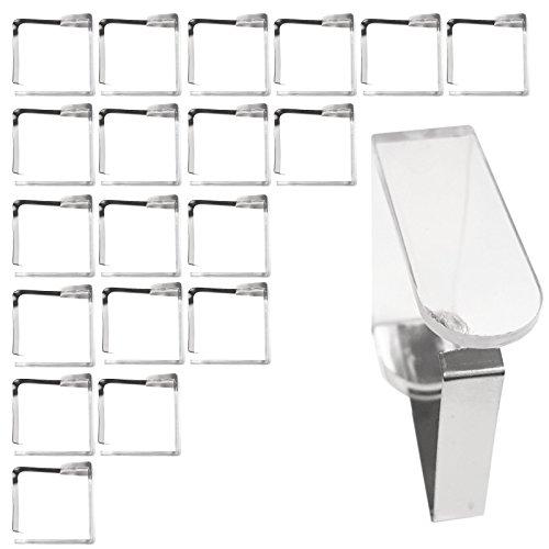 20 Stück Edelstahl Tischtuchklammer Tischdeckenklammer Tischtuchhalter Decke