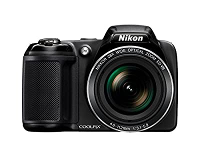 Nikon Coolpix L340 20.2 MP Digital Camera with 28x Optical Zoom and 3.0-Inch LCD (Black) from Nikon