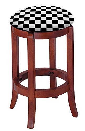 The Furniture Cove Bar Stool Cherry Finish Wood 24