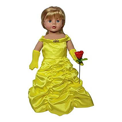 88749531477bf Amazon.com: Arianna 18-inch Doll Clothes   Princess Belle Complete ...