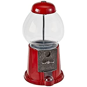 Great Northern 15-Inch Vintage Candy Gumball Machine and Bank with Stand, Everyone Loves Gumballs