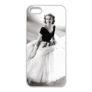 iPhone 5 5s Cell Phone Case White Grace Kelly Rzph