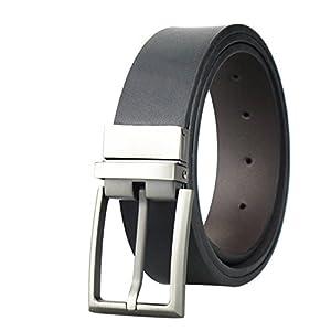 Beautifullight Great Genuine Leather Belts for Man Women Belts Fashion Luxury Brand Male Strap Brushed Metal Pin Buckle Waistband Black 95cm