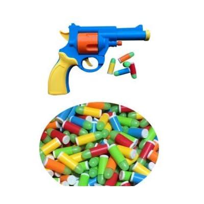 JKshop M1911/Revolver Rubber Backyard Blasters 10mm Rubber Bullet Toy Gun Re-Fill Pack Ammo 50-Pack: Toys & Games