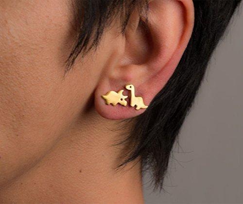 Triceratops Earrings