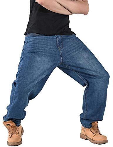 Stile Moderna Vita Bassa Ballo Hip Retro Hop Larghi Casual Jeans Pantaloni Da Colour A Clubwear Uomo FtwBCHnqx