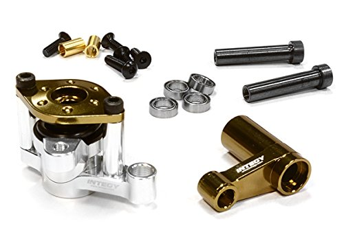 Integy RC Model Hop-ups C26116BRONZE Billet Machined Steering Bell Crank Set for Axial 1/10 Yeti Rock Racer - Steering Bell Crank System